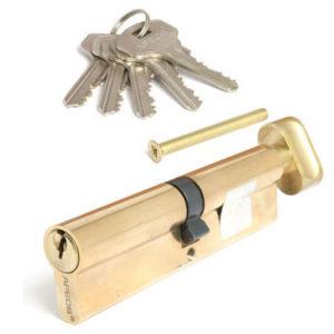Цилиндровый механизм перф.110мм(60*50) вертушка золото