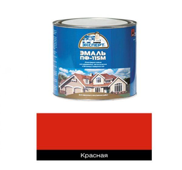 Красная эмаль алкидная 1,9 кг